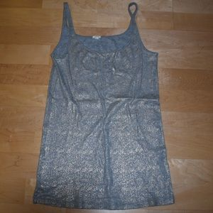 Jcrew Gold and Grey Shimmer Cami